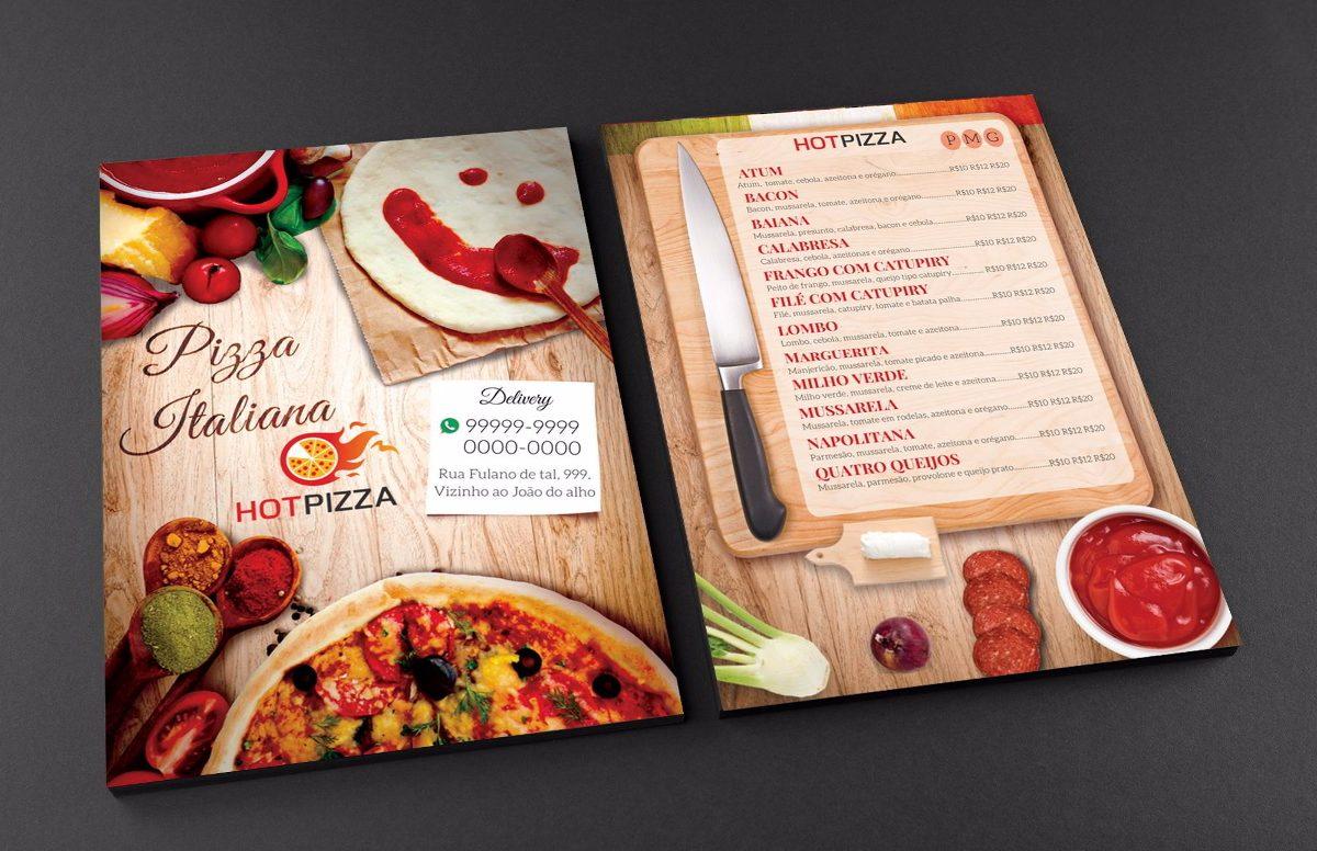 Cardápio semanal para pizzaria