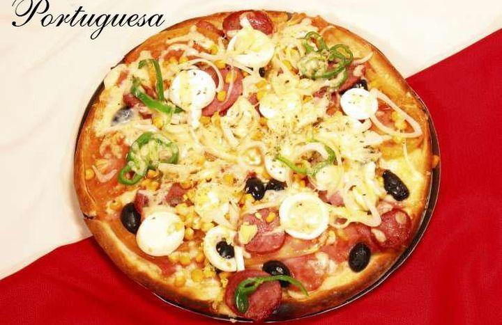 Como fazer uma pizza portuguesa