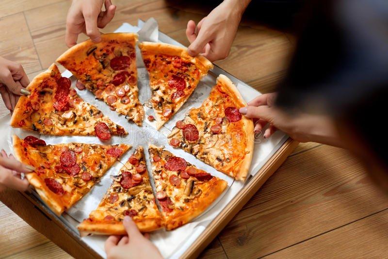 Fatias de pizza
