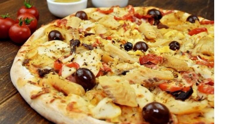 Como fazer uma pizza de bacalhau