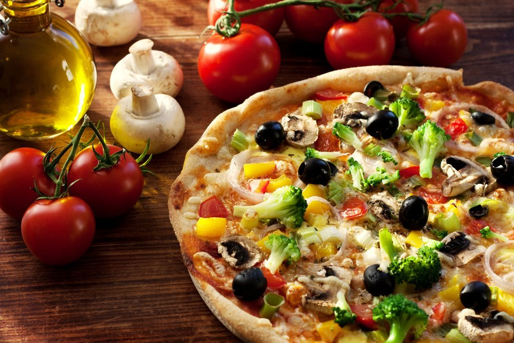 Pizza sabor vegetariano- pizzariadesucesso