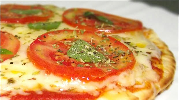 Receita de pizza feita na frigideira