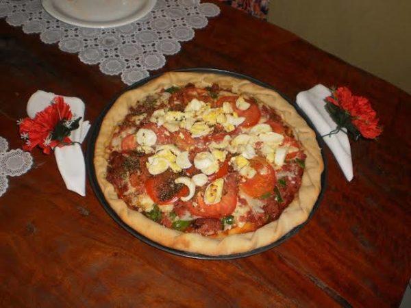 Receita de pizza artesanal