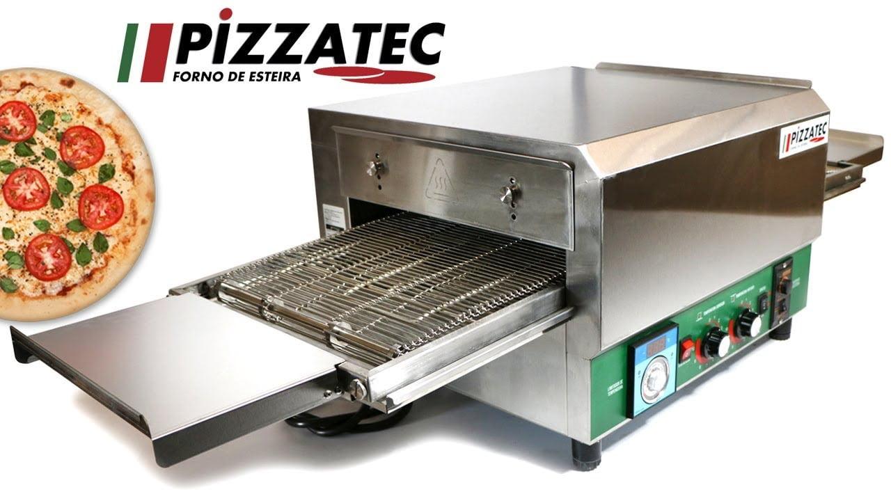 Forno de esteira para assar pizza