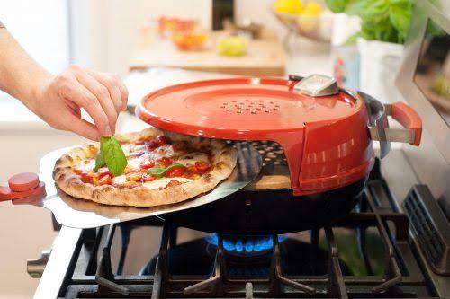 Como assar pizza no forno do fogão